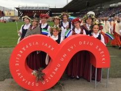Kolkas koklētājas XXVI Vispārējie latviešu Dziesmu un XVI Deju svētku atklāšanas dienā 01.07.2018