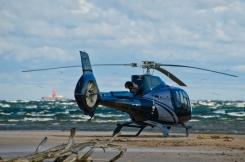 Kam jūras skatīšanai no augšas- drons, kam- helikopters. 14.10.2020