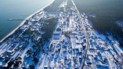 Kolkā tik balts uzsnidzis sniegs. 17.01.2021