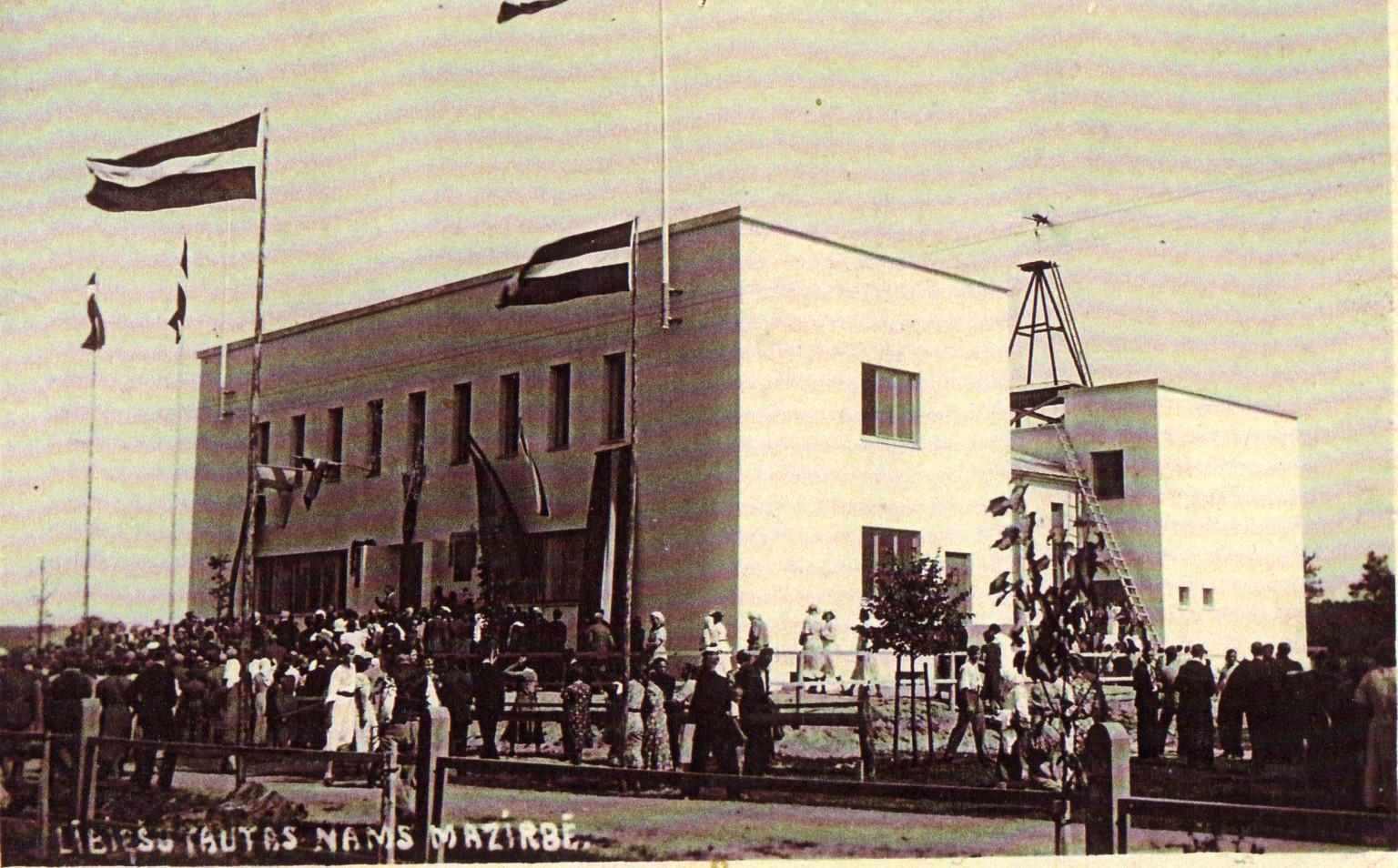 Lībiešu tautas nama atklāšana 1939. gada 6. augustā.