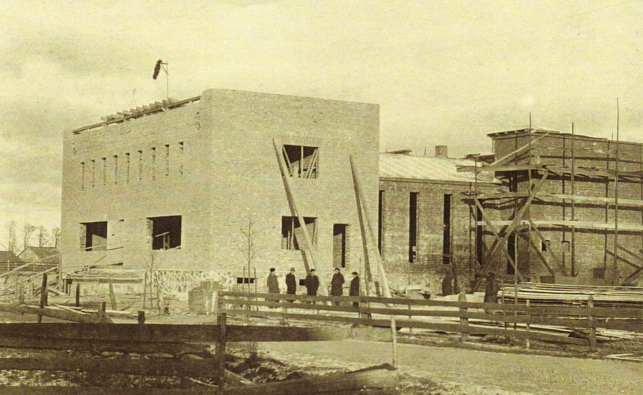 Lībiešu tautas nama celtniecība 1939. gadā