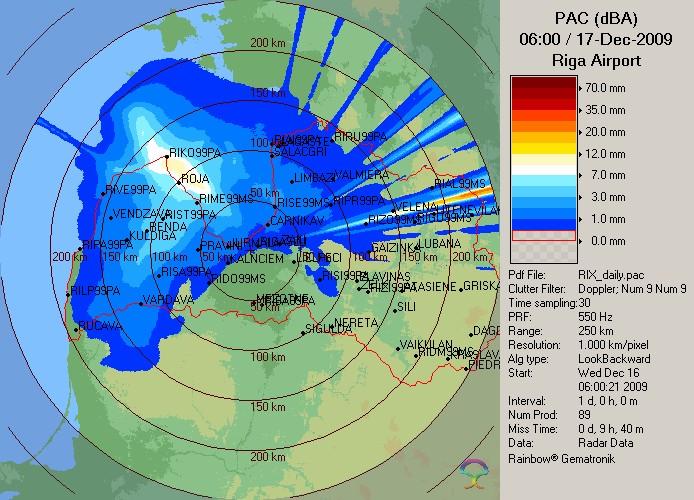 Meteoradara informācija 17.12.2009